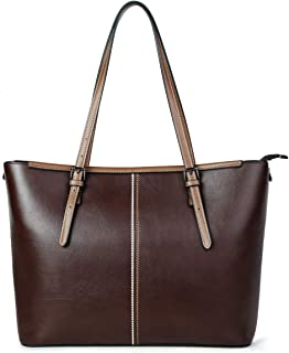 Sponsored Ad - lady leather laptop tote bag office handbag women fashion briefcase 15.6-inch computer work bag