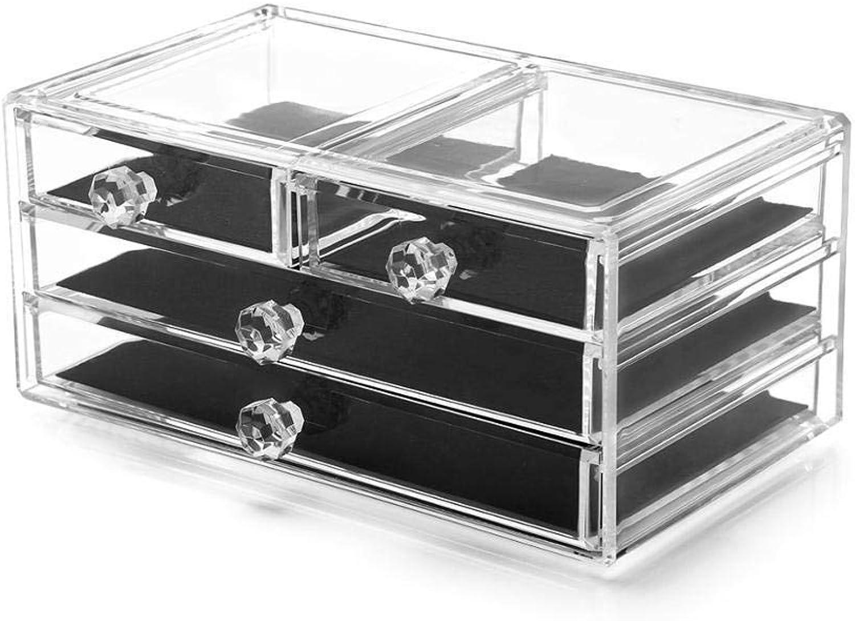 XIAOZHOU Kosmetische Aufbewahrungsbox Acryl Kosmetikkoffer Kosmetik Aufbewahrungsschublade Multifunktions Aufbewahrungsbox Sicherheit Acryl Aufbewahrungsbox Kosmetik Aufbewahrungsbox A