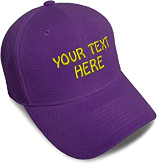 Baseball Cap Custom Personalized Text Dad Hats for Men & Women Strap Closure