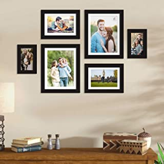 Art Street Set of 6 Black Wall Photo Frame, Picture Frame for Home Decor with Free Hanging Accessories (Size - 4x6, 6x8, 8...