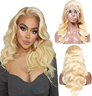 Kreesi Body Wave Wigs 613 Blonde Human Hair Lace Front Wig for Women with Baby Hair Body Wave 100% Brazilian Virgin Human Hair Wigs