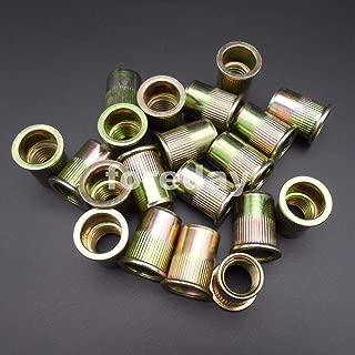 Ochoos 20PCS M12 Carbon Steel galvanization Rivet Insert Clinch nut blind nuts Flat Head Knurled Knurled 12MM 1LOT=20PCSBT624X20