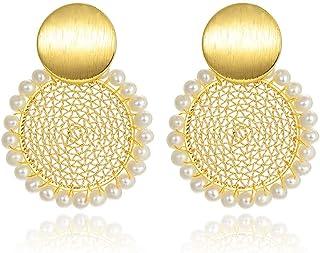 Orecchini di fascia alta Premium Vintage barocco orecchini della perla signore temperamento Orecchini l'aggiunta perfetta ...
