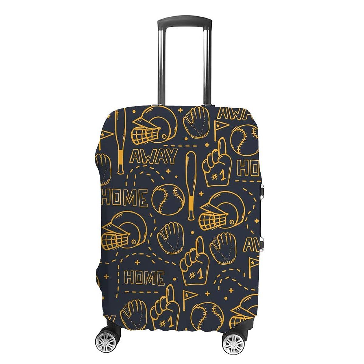 前件資格湿気の多いスーツケースカバー ?野球 手描き 伸縮素材 キャリーバッグ お荷物カバ 保護 傷や汚れから守る ジッパー 水洗える 旅行 出張 S/M/L/XLサイズ