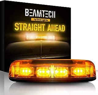BEAMTECH Warning Strobe Light,30 LED Chips 20W High Intensity Enforcement Emergency Hazard Mini Bar Lighting Beacon with Magnetic Base Amber Yellow
