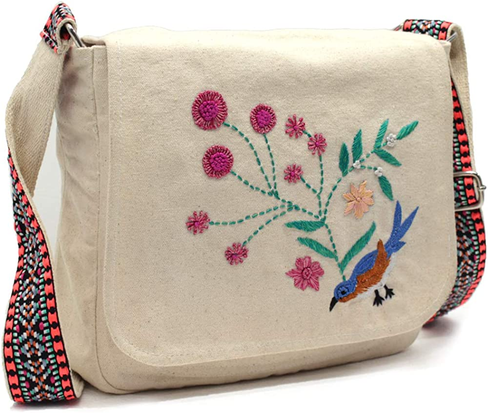 Handmade beaded embroidery Bird Max 44% OFF Casual Daily Canvas and Vintage New life