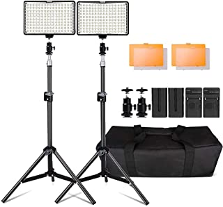 Kit de LED IluminaciónYeeteem 160 Regulable Ultra High Power Panel Cámara Digital / Videocámara Video Light con Soporte de Luz de Estudio de 79 Alto y 3200/ 5500K Kit de Luces Video