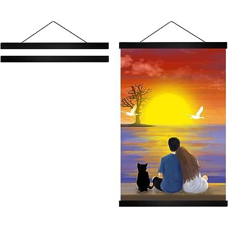 2 cm//per Piece SmilePunk PVC Hooks Home Decor Wall Poster Scroll Hooks 10 Piece