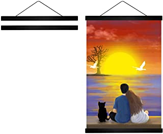 Radezon 16 inch Wide Magnetic Poster Hanger Frame, 16x20 16x24 16x22 Wood Frame for Posters, Prints, Photos, Pictures, Map...