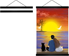 Radezon 24 inch Wide Magnetic Poster Hanger Frame, 24x36 24x18 24x32 Wood Frame for Posters, Prints, Photos, Pictures, Map...