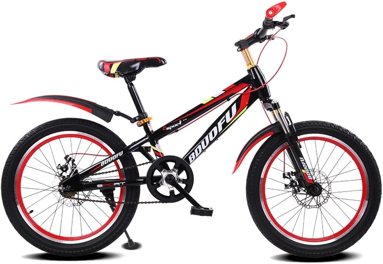 buena calidad QARYYQ Bicicleta para Niños 16 18 20 20 20 Pulgadas Bicicleta de Montaña 5-8 7-10 10-14 años Niño Cochecito de bebé Bicicleta de Acero de Alto Cochebono, Azul Negro Rojo Negro verde Negro Azul oscur  salida de fábrica