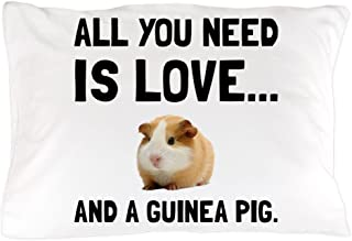 CafePress Love and A Guinea Pig Standard Size Pillow Case, 20
