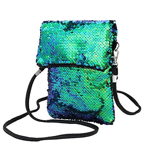 Zolimx Pailletten Handtasche Schultertasche Tote Damen Geldbörsem, Mode-Outdoor-Solid Color...