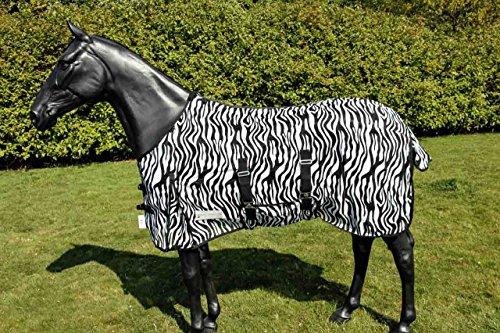 WALDHAUSEN Fliegendecke Zebra, schwarz/weiß, 135 cm