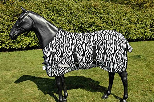 WALDHAUSEN Fliegendecke Zebra, schwarz/weiß, 145 cm