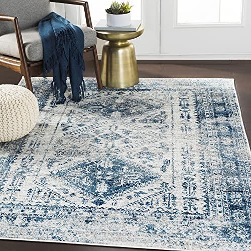 Artistic Weavers Desta Blue/White Area Rug, 7'10' x 10'2'