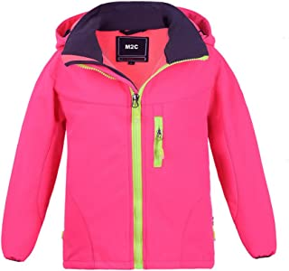 M2C Boys & Girls Hooded Winter Windbreaker Fleece Lined Softshell Jacket