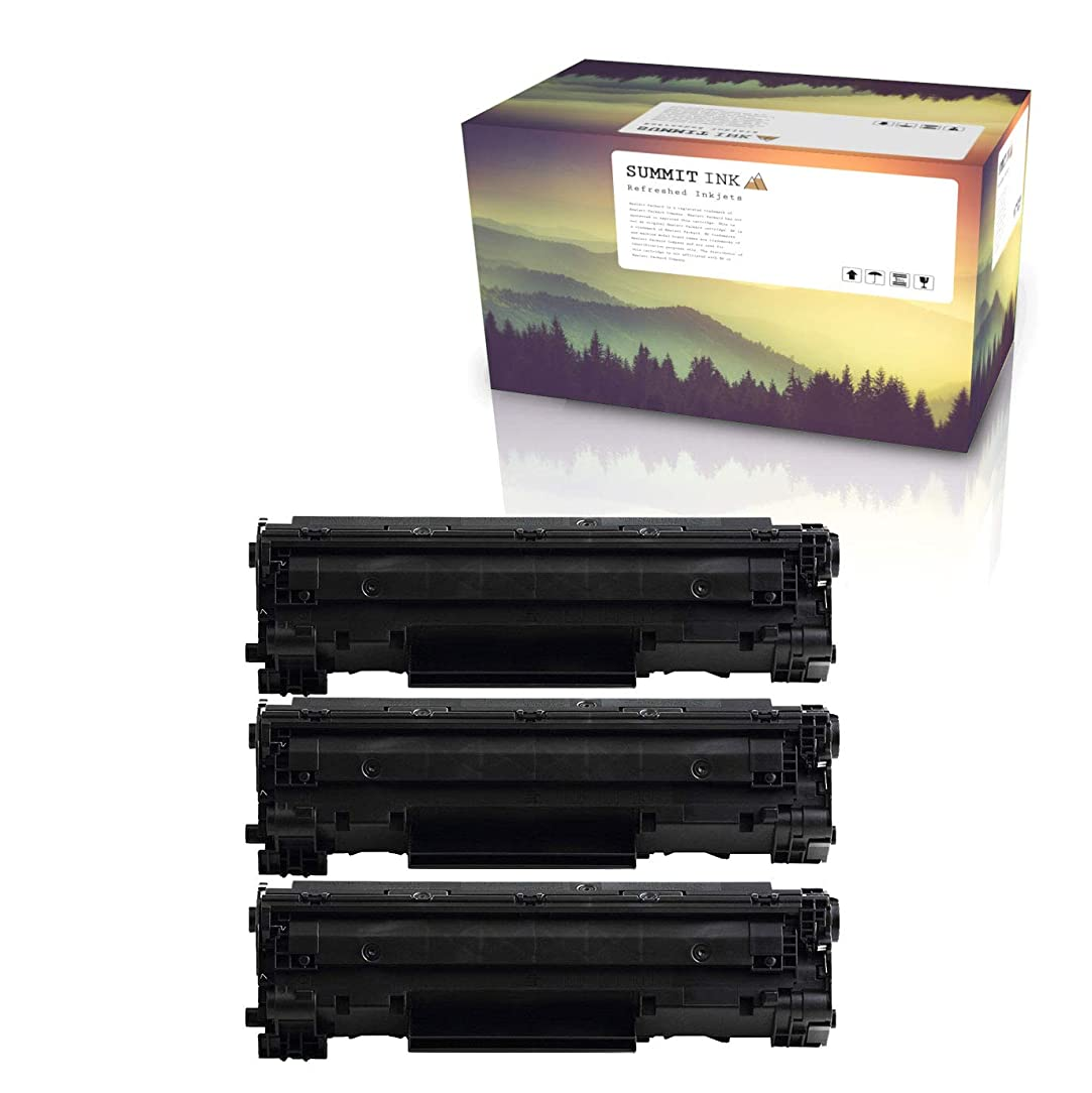 Summit Compatible HP 85A Toner Cartridge for HP Laserjet Pro P1102 P1102W M1132 P1109W M1212nf M1217nfw M1139 M1219nf M1138 Printers HP CE285A (3 Black)