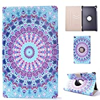 Case Fit All-New Kindle Fire HD 8, FlipBird Flower Series Folio Stand Leather Smart Cover with Auto Wake/Sleep Function for Girly Women Case for All-New Kindle Fire HD 8 2017/2016/ 2015 Version