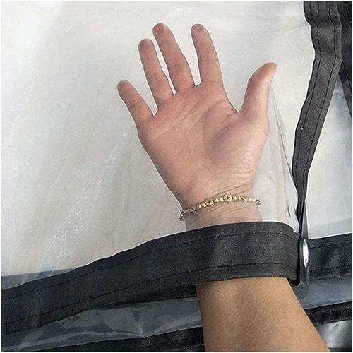 Yuke Bache Transparente imperméable de PE de bache de Film de Tissu en Plastique imperméable à la Pluie de Couverture imperméable de bache Transparente (Taille   4X8m)