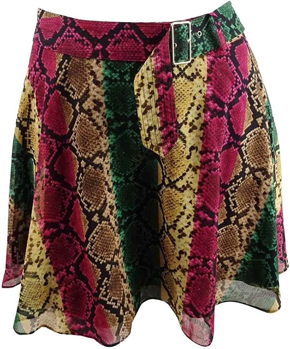 INC International Concepts Women's Python-Print Mini Skirt (14, Rainbow Python)