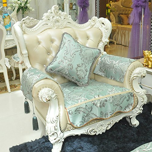 HDVHXVHJWCXHXF European Style Sofa Pad/Herbst- Und Wintertuch/Luxus-ledersofa-Kapuze/Anti-rutsch-Anzug-B 90x180cm(35x71inch)