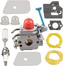Mannial C1Q-W40A Carburetor Carb fit Husqvarna 124L 125L 125LD 125R 125RJ 128C 128CD 128L 128LD 128LDX 128R 128RJ 128DJX Trimmer Rep # 545081848 545130001 with Air Filter Tune Up Kit