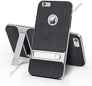 iPhone 6 6S Kılıf Standlı Koruma Kabı + Apple İphone 6 6S Kırılmaz Cam Ekran Koruyucu