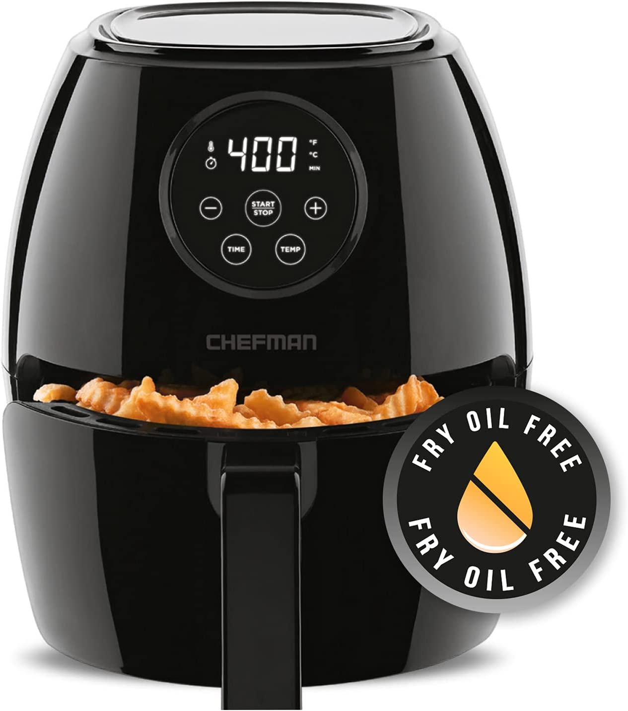 Chefman TurboFry 3.7 Quart Popular Air Fryer Touch Digital Oven W Scree Free shipping on posting reviews