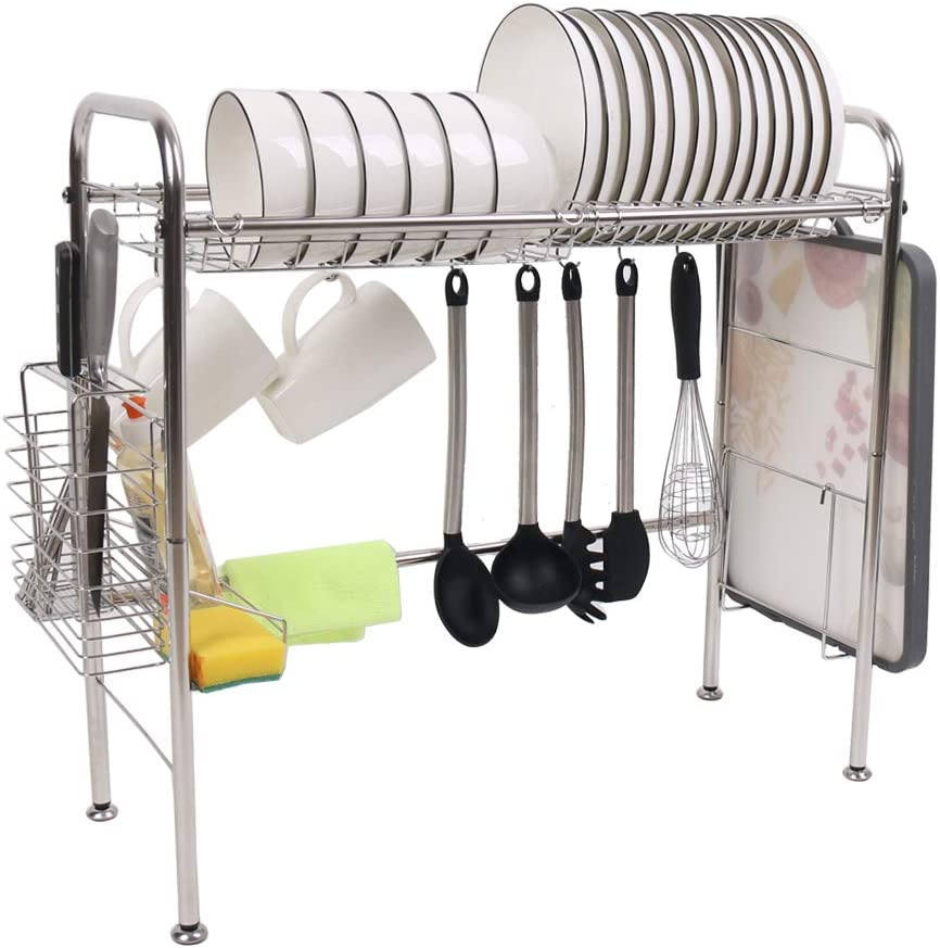 Over The Sink Dish Drying Rack Storage Non-slip Los Angeles Mall Kitchen free shipping St Shelf