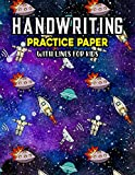 Handwriting Practice Paper With Lines For Kids: Astronauts Rockets Handwriting Practice Paper With Dotted Lined Sheets for Kids, Kindergarteners, Preschoolers, And toddlers