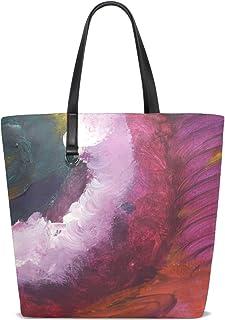 FANTAZIO Schultertasche für Damen, Galerie, abstrakte Malerei