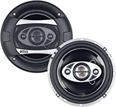BOSS Audio Systems P65.4C Car Speakers - 350 Watts Of Power Per Pair And 175 Watts Each, 6 x 9 Inch , Full Range, 2 Way, Sold in Pairs, Easy Mounting