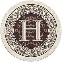 Thirstystone Monogram H Sandstone Coaster Set Of 4