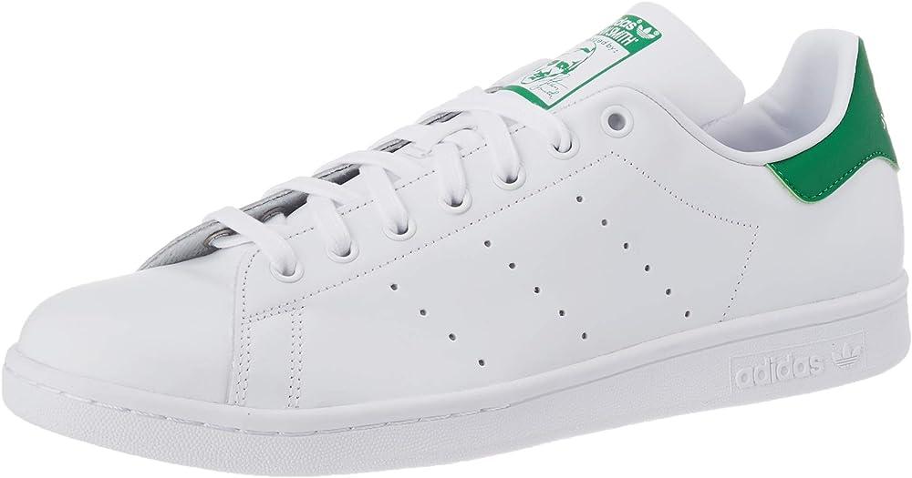 Adidas stan smith, scarpe da ginnastica basse uomo sneakers in pelle B24704