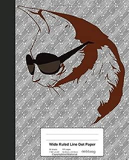 Wide Ruled Line Dot Paper: Book Cornish Rex Cat (Weezag Wide Ruled Dot Paper Notebook)