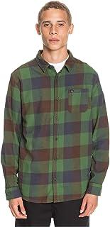Quiksilver Motherfly Flannel-Camisa de Manga Larga para Hombre