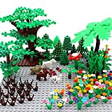 Garden Park Building Block Parts Botanical Scenery Accessories Plant Set Building Bricks Toy Trees Flowers Compatible All Major Brands (Without Baseplate)