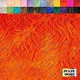 FabricLA Shaggy Faux Fur Fabric - Pre Cut   20' X 20' Inches   DIY Craft, Hobby, Costume, Decoration   Orange