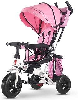 LovemyhomeDD 4-in-1 Kids Baby Toddler Stroller Tricycle Learning Bike Ride on Pram