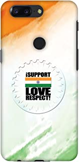 OnePlus 5T Case, Premium Handcrafted Designer Hard Shell Snap On Case Shockproof Printed Back Cover for OnePlus 5T - I Support Love India