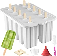 Popsicle Molds ICE Pop Maker,10 Cavity Homemade ICE Pop Molds Food Grade Silicone BPA-Free Popsicle Mold Popsickle Mold Se...