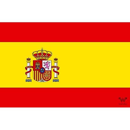 Spanien Spanisch Map Flag Espana 11 9 Cm 120 Mm Vinyl Bumper Aufkleber Aufkleber Garten