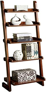 Furniture of America CM-AC293 Lugo Ladder Display Shelf, 5, Brown