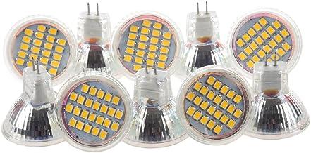 JVSISM 10pcs MR11 GU4 Warm White 3528 SMD 24 LED Home Spotlight Light Lamp Bulb 1W 12V