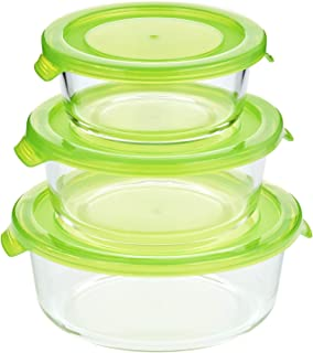 Taliona TL2213378 Boro Round Food Container Set (Green)