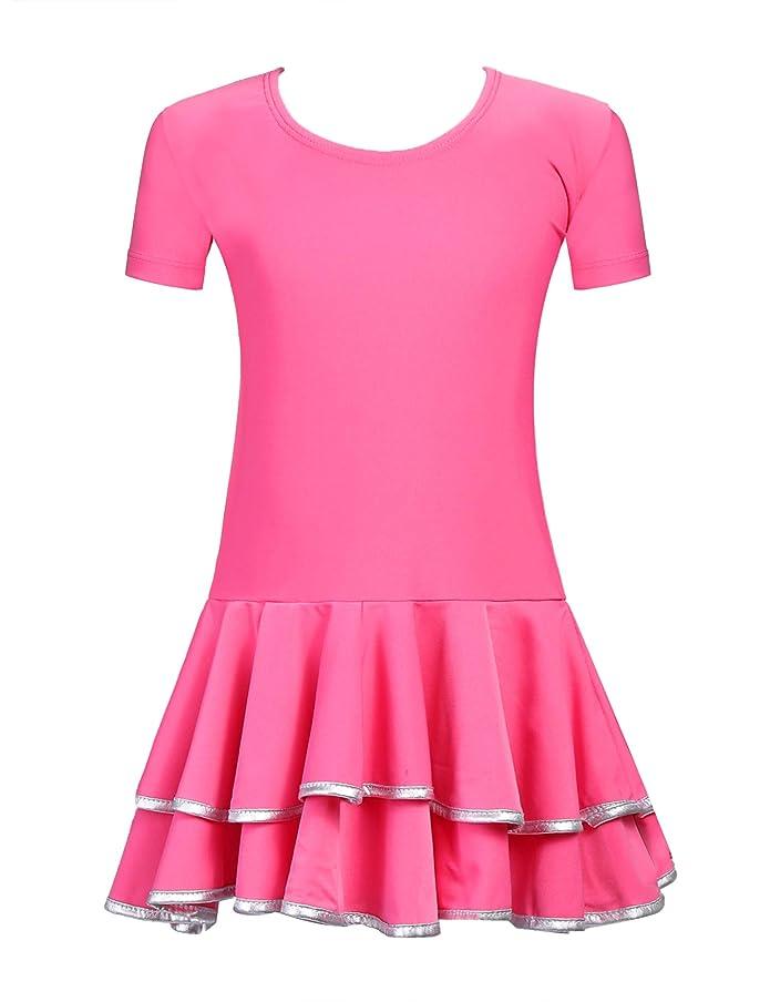 Arshiner Big Girls Skirt Leotards Ruffle Latin Rumba Samba Dance Dress Tutu Dancewear k3647925625