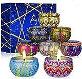 SUPERSUN 8 Velas Aromaticas, Velas Perfumadas, Regalos para Mujer para Baño, Yoga, SPA, Relajación, Alivio del Estrés