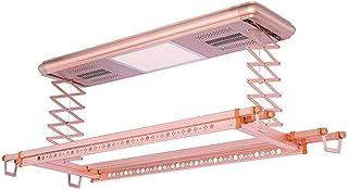 Séchoir à linge rétractable automatique, corde à linge à double contrôle, éclairage LED, étendoir de levage, tringle à lin...