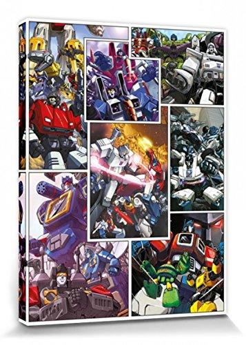 1art1 Transformers - G1, New Comic Panels Cuadro, Lienzo Montado sobre Bastidor (80 x 60cm)